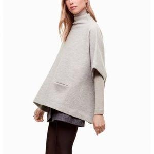Wilfred Touraine Sweater Poncho, Grey, XXS/XS